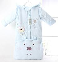 100% cotton baby sleeping bag newborn baby child winter anti tipi winter lengthen autumn and winter thickening