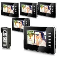 "2014 New Top Fashion free Shipping Video Doorphone & 7"" TFT LCD Indoor Monitor & Video Intercom System XSL-V70D-M2 1VS5"
