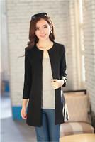2014 Spring Autunm Women Wool Coat Black Blue Red Khaki Round Collar Woolen Overcoat Size S M L XL Free Shipping
