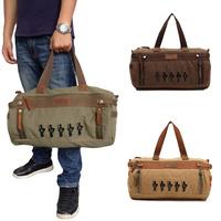 Top Quality Vintage Men Canvas Bag Large Capacity Travelling Luggage Bag Unisex Satchel Shoulder Bag for weekend