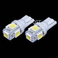 New Xenon 5 SMD LED Side Light White Bulb T10 W5W 501 Car Light  2pcs/lot