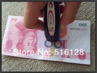10pcs/lot Mini Money Fake Counterfeit Detector Blue Color with UV+MG 2 in 1 Cash Detector Wholesale