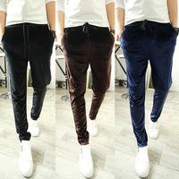 2014 new arrival male's Velvet  casual joggers  baggy trousers bandana pants outdoor sweatpants men's pencil pants 4051