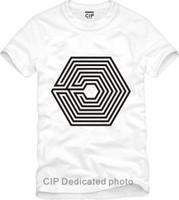 Hot 2014 Summer EXO Poisoning addictive Han Cotton Tees Fashion HipHop Korea T-shirts Casual Cool Basic Short-Sleeve Shirts