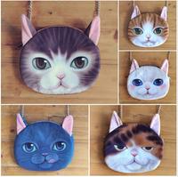 The fashion bag Super cute cat messenger bag inclined shoulder bag women hand bag 180 g  23 * 22 cm