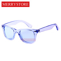 2014 New Brand Designer brand unisex Wayfarer Ice Pops Sunglass men Transparent frame Good quality Glasses women