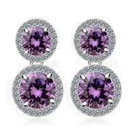 round sliver stud earring for women 18k white gold plated stud earring for women 2014 fashion jewelry for women M402