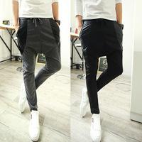 2014 new arrival male's casual joggers  baggy trousers bandana pants outdoor sweatpants men's Harem pants  4055