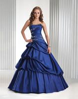 low price  in stock long elegant bule prom dresses