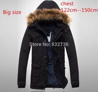 Big Size Winter Men Thick duck down coat Brand  Raccoon fur collar Waterproof Windproof Keep warm overcoat parka men