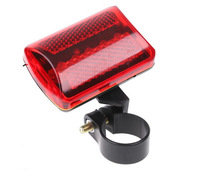 5063 No tracking number high quality 5 LED Bike Bicycle Red Flash Light Tail Rear Light Lamp Set Sport Accessories