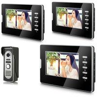 "2014 New Top Fashion free Shipping Video Doorphone & 7"" TFT LCD Indoor Monitor & Video Intercom System XSL-V70D-M2 1VS3"