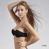 2014 New Reusable Silicone Nude Black Strapless Backless Invisible Bra silicone bra brassiere invisible bras sutian women 13003