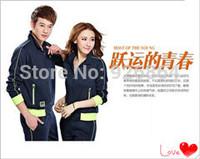 2014 men's new men women couples embroidery leisure suits sports sweater suit tracksuits sportswear men