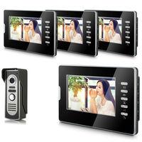 "2014 New Top Fashion free Shipping Video Doorphone & 7"" TFT LCD Indoor Monitor & Video Intercom System XSL-V70D-M2 1VS4"
