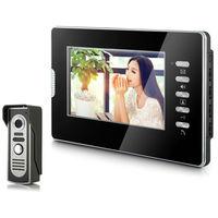"2014 New Top Fashion free Shipping Video Doorphone & 7"" TFT LCD Indoor Monitor & Video Intercom System XSL-V70D-M2 1VS1"