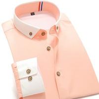 New 2014 Men's Dress Shirt Long-Sleeve Brand Shirts Plus Size Hit Color stitching Fashion Dress Shirt S-3XL XG50-225