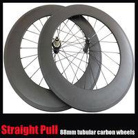 powerway R36 HUB 23mm width tubular carbon wheel 88mm straight pull road bike wheels Super light weight carbon bicycle wheelset,