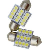 2pcs/lot  Car Interior Dome 12 SMD LED Festoon Bulb Light 31mm