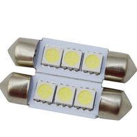 2X Dome 3 SMD LED Bulb Light Interior Festoon Lamp 36mm