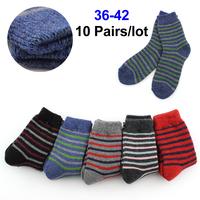 Retro Womens Long Socks Ladies Casual Cotton Socks Cute Striped High Socks 10 Pairs/Lot  Free Shipping