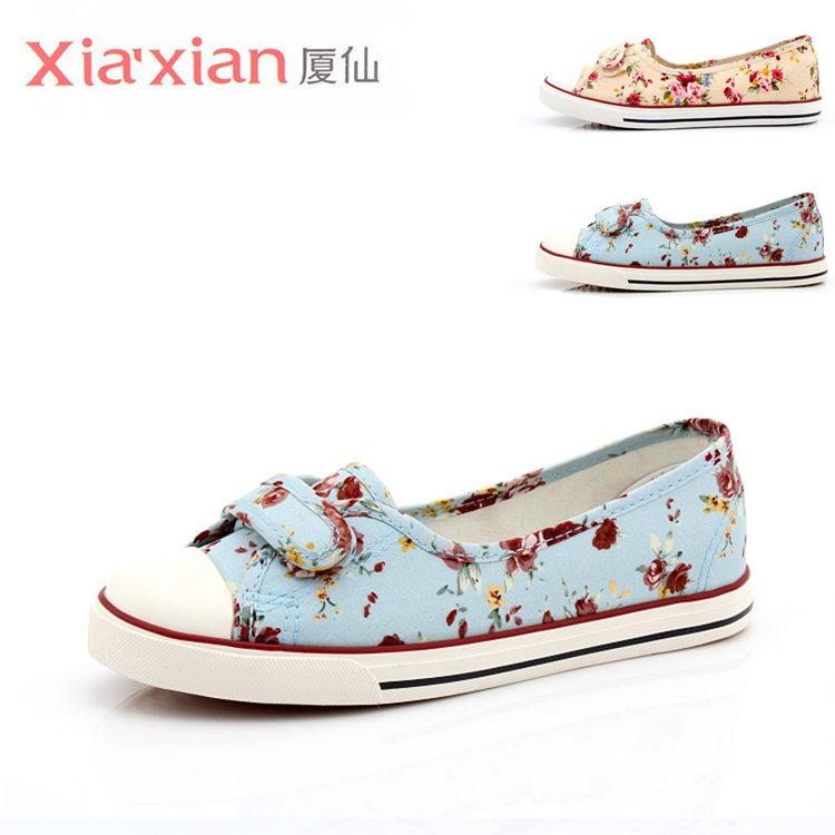 A boca rasa verão preencher sapatos de lona mágica preguiçoso uma enfermeira pedal sapatos Xie Shunv sapatos documentários plana(China (Mainland))