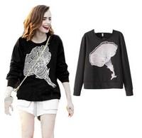 New sweaters 2014 women fashion hoody sweatshirt junjors clothing assassins creed loose long sleeve hoody conjuntos feminos tops