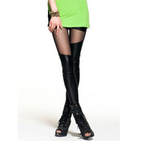 Women Legging Solid Patchwork Lace Hollow out Legging for Women Sexy PU Leather Plus Size Hot Legging Women Clothes 9279