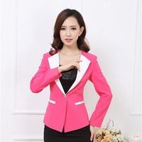 Novelty 2014 Autumn Formal Women Blazers & Jackets Female Blue Blazer Feminino Elegant Ladies Office Uniform Styles