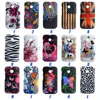 Hot selling  UK USA Flag Flower Butterfly Zebra Leopard case Cover FOR Motorola MOTO E case for XT1050 xt1021 XT1022 XT1025