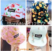 Korea cute college couple hip-hop style pineapple fruit pattern baseball cap flat along sun hat