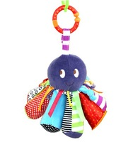 Candice guo! hot sale Mamas & papas multipurpose Octopus baby toy rattle bell safe mirror bed hang 1pc