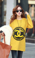 Loose type of large size women's T-shirt In the long sleeve long free shipping