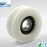 China Nylon V type 6202 plastic bearing pulley 12x59x22mm V groove pulley