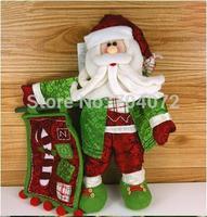Wholesale-Free shipping 2pcs/lot Christmas gift indoor pendant hot Santa snowman soft  christmas outdoor decoration