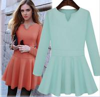 New  winter Women's dress casual vestidos chiffon plus size novelty vestido festa office dresses atacado roupas free shipping