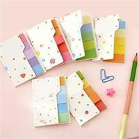 2014 New Cute Cute Rainbow Color Memo Pads Mini Sticky Notes School Supplies Memos