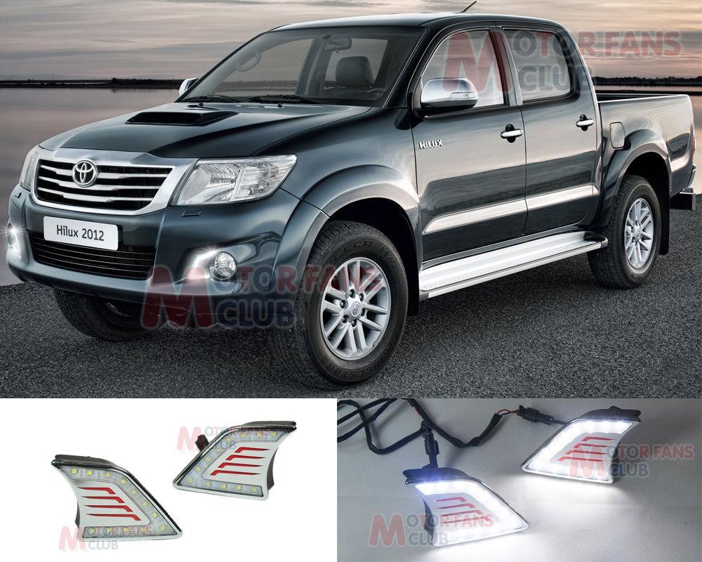 Дневные ходовые огни MHT Toyota Hilux дневные ходовые огни сплошной диод купить