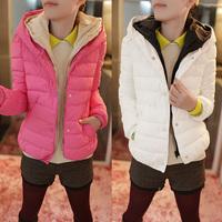 Women's Wadded  New 2014 Designer Women  Winter Hooded cotton-padded Jacket Black White Yellow Hot Pink