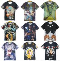 2014 New arrival Fashion women/men 3D t-shirt printed sex chain nude beauty women sexy top tees Tshirt