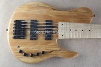 free shipping Wholesale Fodera 6 string active bass neck through electric bass black hardware bass