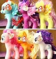 2014 6pcs/lot New Coming Cartoon Horse Plush Toys Stuffed Animals & Plush Dolls & Stuffed Toys
