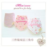 Free shipping babador 3pc/lot 100% cotton brand  girls baby bibs towel bandanas chiscarf ldren cravat infant towel jardineira