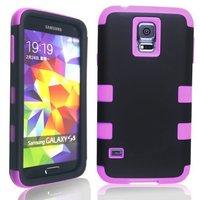 Hybrid Hard & Silicone SGP SPIGEN Slim Armor Mobile Phone Cases Cover For Samsung Galaxy S5 SV i9600 G900 Shock Proof 100pc/lot