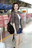 Ladies blazer leopard print blazer feminino M/L/XL/XXL Free shipping