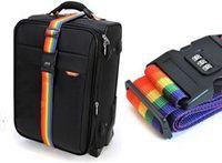 Free Shipping! 1pcs Minorder Rainbow Travel Luggage Suitcase Strap Luggage suitcase Secure Lock Safe Belt Strap 2m baggage Belt