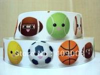 10Y9016 kerryribbon free shipping 7/8 '' balls printed ribbon Grosgrain ribbon
