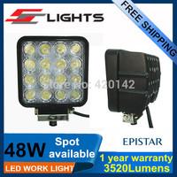 2X10~32VDC 48W 3520Lumens SPOT High Power Led Work Off-road Lights Driving Lights For Track Car Boat Led Lamp
