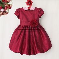2014 Halloween Girl Dress Wine Red Flower Lantern Party Dresses For Kids Custome Children Clothing GD40814-39