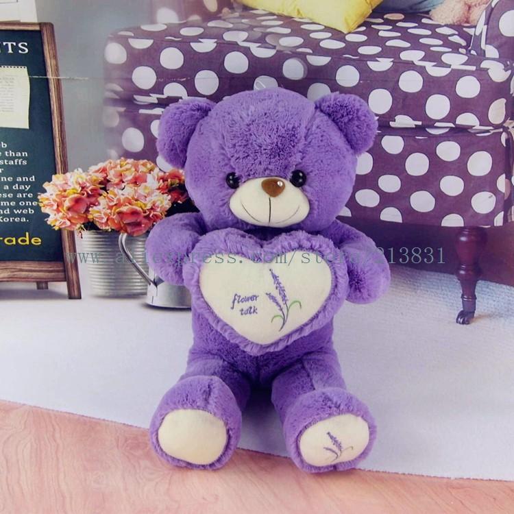 teddy bear hedgehog gummy bear how to train your dragon plush toys mini plush teddy bear Lavender hold heart cute purple bear(China (Mainland))